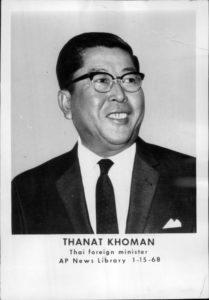 thanat khoman merupakan pendiri asean dari thailand